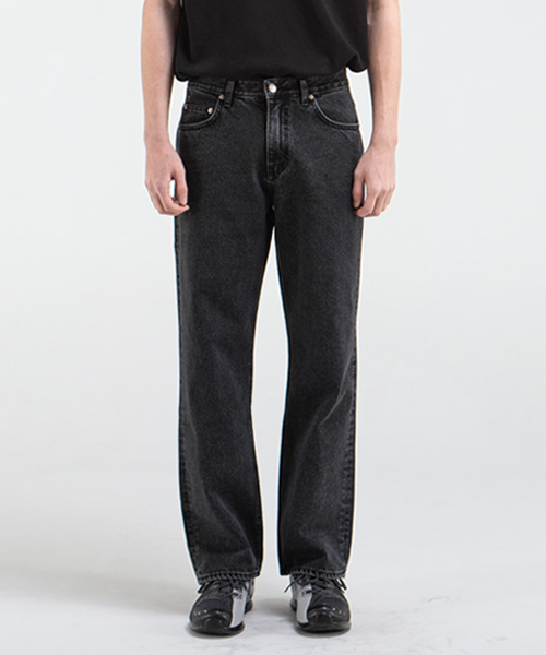 1893 BLACK MIRROR JEANS [WIDE STRAIGHT]